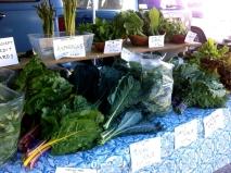 Spring display at the market