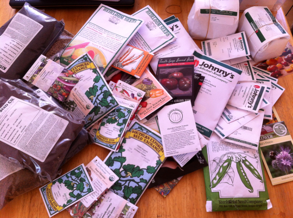 Some of the seeds we ordered for this year.